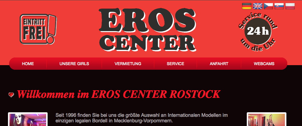 Website des Eros-Center